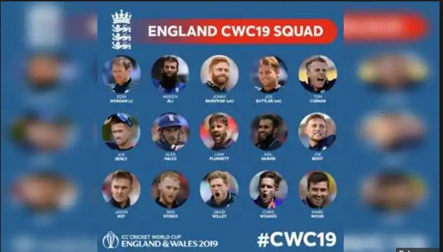 England team squad for world cup 2019