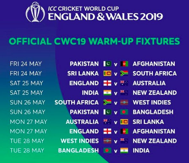 Cricket World Cup 2019 Warm-Up Matches