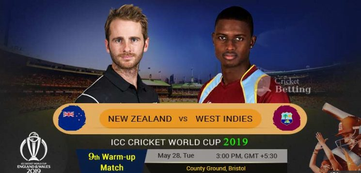 West Indies vs New Zealand world cup warm up match