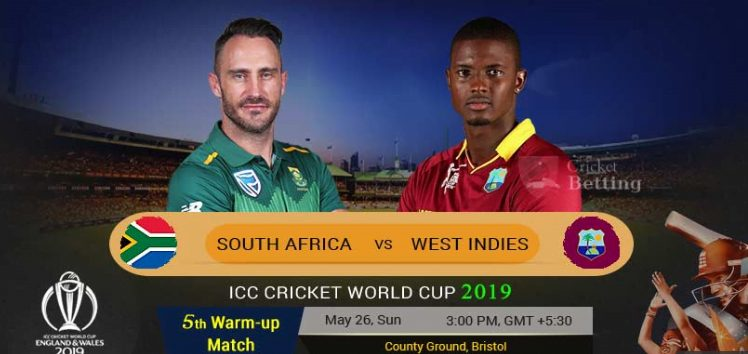 South Africa Vs West indies live warm up match