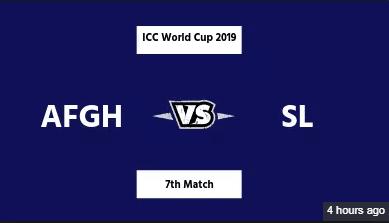 Afghanistan vs Sri Lanka Live Match |SL vs Afg Live Stream| ICC Cricket World Cup 2019